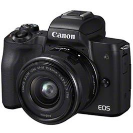 Canon EOS M50 Mirrorless Camera With EF-M 15-45mm IS STM Lens - Black Thumbnail Image 2